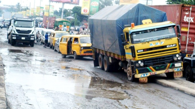 poor state of Lagos roads, Badagry axis