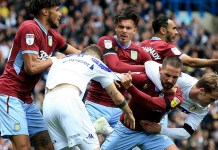 Leeds United and Aston Villa battle in Championship
