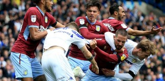 Leeds United and Aston Villa battle in Championship