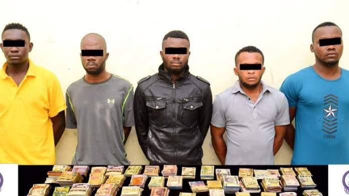 he five Nigerians arrested in Dubai, UAE in March for robbing a bureau de change.
