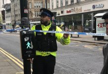 Manchester city police on guard