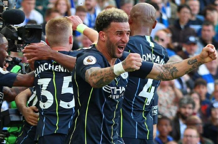 Manchester City won the Premier League by one point at the Amex Stadium