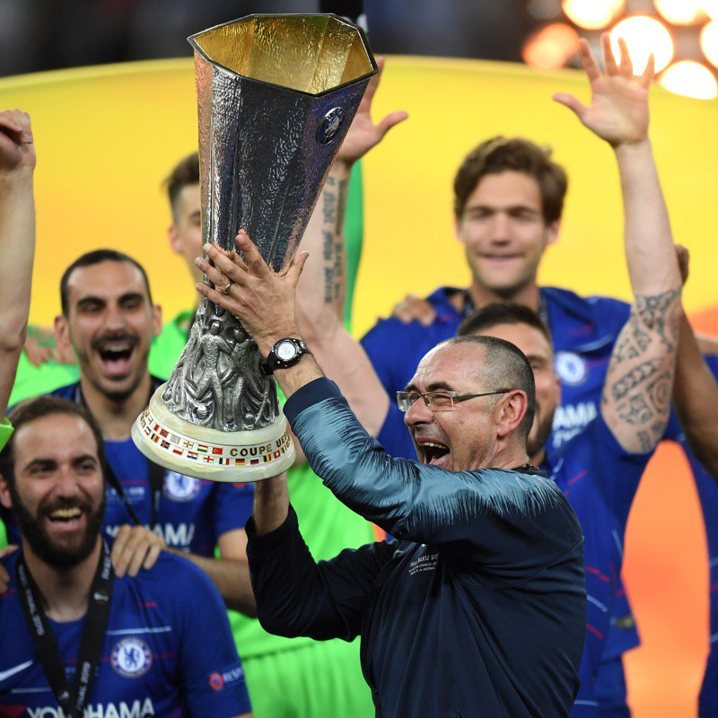 Maurizio Sarri has won his first silverware as a manager