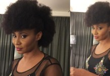 Nollywood actress Nse Ikpe-Etim is self isolating after arriving Nigeria from the UK