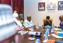 Vice President Yemi Osinbajo, SAN, in a meeting with Gbagyi Abuja community and political leaders at State House, Abuja