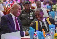 Vice President Yemi Osinbajo and Senate President Bukola Saraki