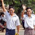Wa Lone and Kyaw Soe Oo were freed along with thousands of other prisoners