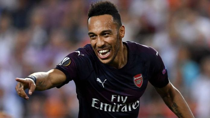 Pierre-Emerick Aubameyang scored a hat-trick in Valencia