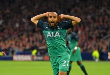 Lucas Moura scored an hat-trick on the night