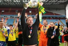Norwich confirmed promotion to the Premier League by beating Blackburn on 27 April