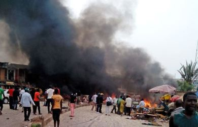 Fire has ravaged Makurdi market destroying properties worth millions of naira