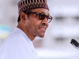 President Muhammadu Buhari giving his maiden Democracy Day speech at Eagle Square in Abuja, Nigeria's capital