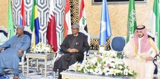 President Muhammadu Buhari in Saudi Arabia for the OIC summit