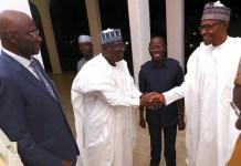 Senate President Ahmed Lawan and President Muhammadu Buhari