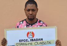 An Ibadan Poly Insurance graduate Oyeremi Olabode arrested for internet fraud
