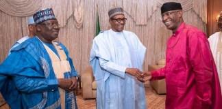 President Muhammadu Buhari flanked by Senate President Ahmad Lawan and deputy, Ovie Omo-Agege External Borrowing