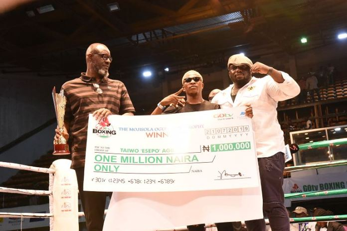 Taiwo Esepo won the N1 million grand prize at GOtv Boxing Night 19