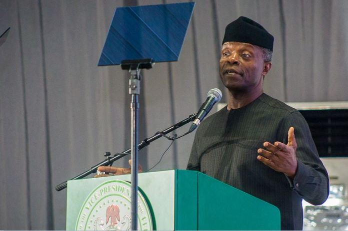 Vice President Yemi Osinbajo delivers a 70th-anniversary lecture of the Lagos Country Club