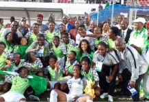 Falconets beat Cameroon to win gold at the 12th African Games