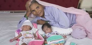 An Indian woman holds the record for having twins at age 70
