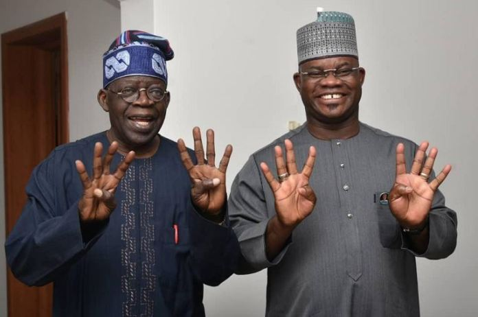 Asiwaju Bola Tinubu and Governor Yahaya Bello