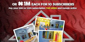 DStv and GOtv subscribers stabd a chance to win furnitures of N1m each