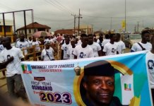 Southwest Youth Congress march in solidarity for Vice President Yemi Osinbajo