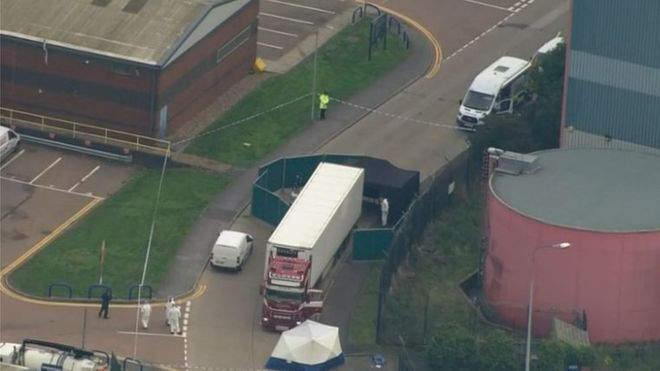 38 adults and one teenager have died in a lorry found in Essex, east of London