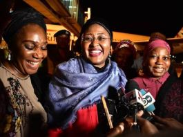 First Lady, Aisha Buhari returns to Nigeria from the UK