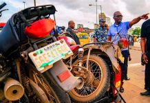Governor Sanwo Olu directing the arrest of defaulting motorcycle riders and car owners