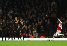 Nicolas Pepe scored twice as Arsenal came from behind to win 3-2