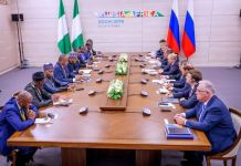President Buhari and President Putin sign bilateral agreements in Sochi, Russia