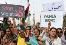 Feminism: At a women's day march in Karachi, activists demand basic rights be respected