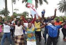 President Goodluck Jonathan's kinsmen celebrate PDP's loss in Otuoke