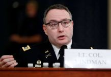 Lt Col Vindman at the Impeachment Inquiry at Capitol Hill