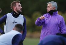 Mourinho was pictured with England captain Harry Kane