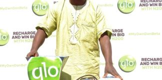 Fatai Abass, a visually impaired man won in the ongoing Globacom promo