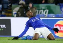 Kelechi Iheanacho scored Leicester City's only goal against Brentford in the FA Cup