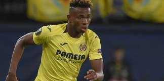 Nigeria and Villarreal striker Samuel Chukwueze