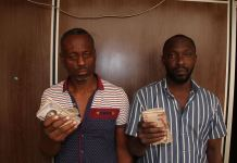 Alaga Segun and Bamidele Falegan were arrested in Ogun state by EFCC operatives for vote buying