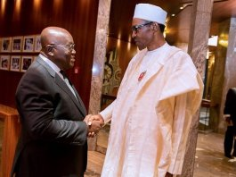 Ghana President Nana Akufo-Addo and President Muhammadu Buhari of Nigeria