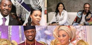 Nigerian celebrities who married older partners Peter Okoye, Kaffy, Dare Art Alade