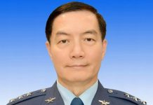 Taiwan's Air Force chief Shen-Yi-ming
