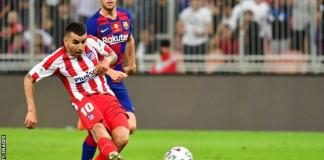Correra's goal was his fourth of the season for Atletico