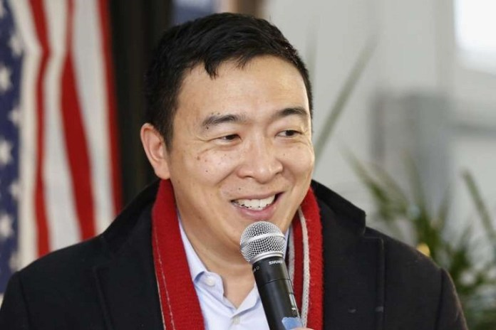 Democratic presidential candidate and entrepreneur Andrew Yang