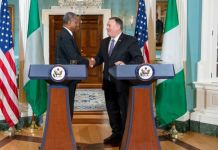 Foreign Minister Geoffrey Onyeama and Mike Pompeo, US Secretary of State visa ban