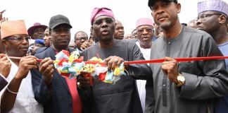 Governor Babajide Sanwo-Olu opened road networks, commissioned schools in Bariga LCDA in Lagos State
