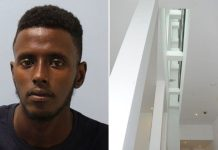 Yusef Ali, 19, pushed a woman off a fourth-floor inside balcony