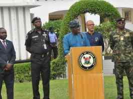 Governor Babajide Sanwo-Olu of Lagos providing update on coronavirus