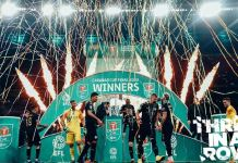 Manchester City have claimed their third Carabao Cup in a row